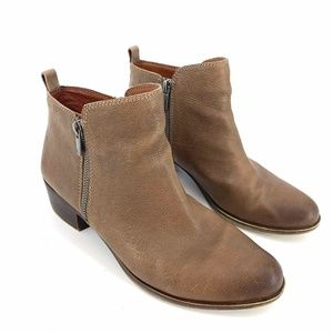 Lucky Brand Womens Basel Toffee Ankle Boots 9.5